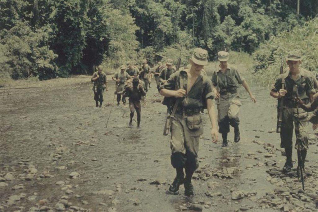 Militairen in Nieuw-Guinea